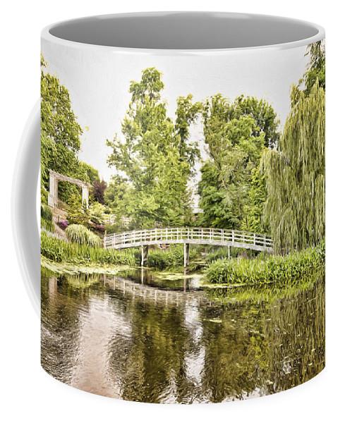 Botanical Coffee Mug featuring the photograph Botanical Bridge - Van Gogh by Anthony Baatz