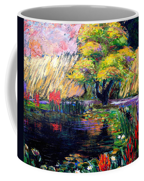 Art Nomad Coffee Mug featuring the painting Botanical Garden In Lund Sweden by Art Nomad Sandra Hansen