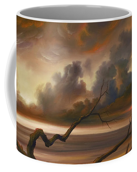Ocean Coffee Mug featuring the painting Botany Bay by James Christopher Hill
