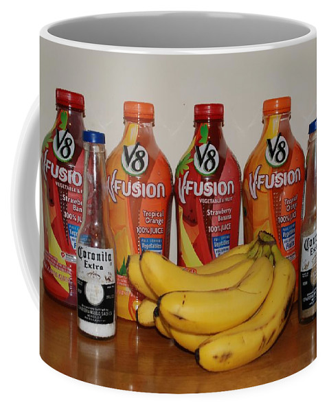 V8 Coffee Mug featuring the photograph Bottles N Bananas by Rob Hans