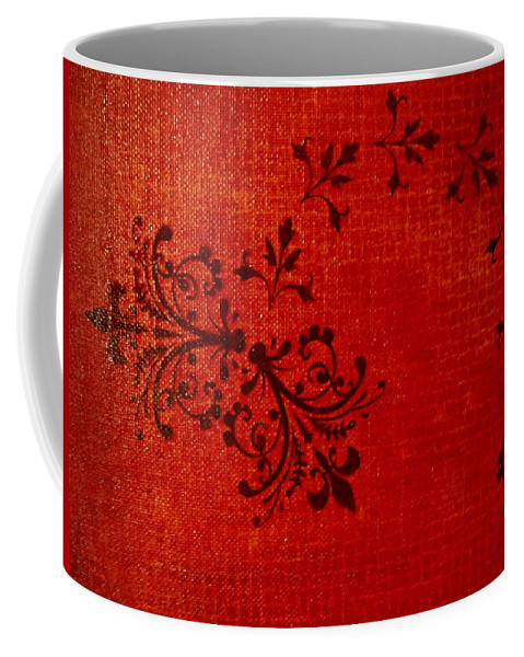 Red Coffee Mug featuring the painting Boudoir One by Laurette Escobar