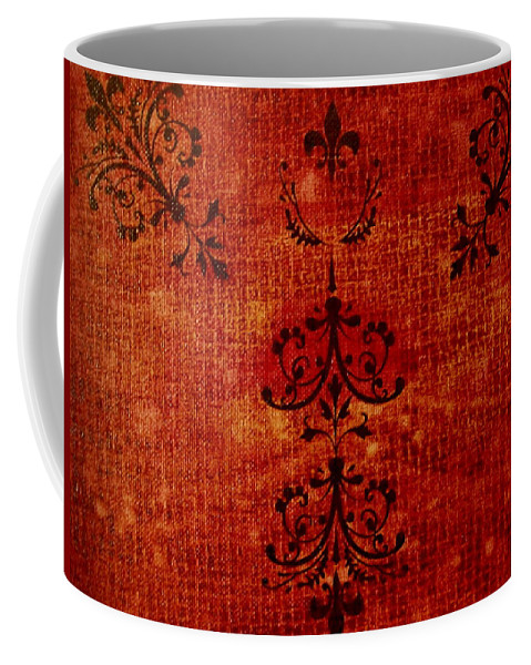 Red Coffee Mug featuring the painting Boudoir Three by Laurette Escobar