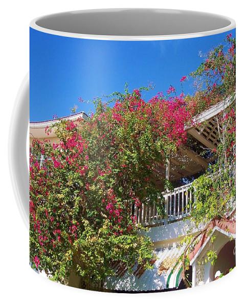 Flowers Coffee Mug featuring the photograph Bougainvillea Villa by Debbi Granruth