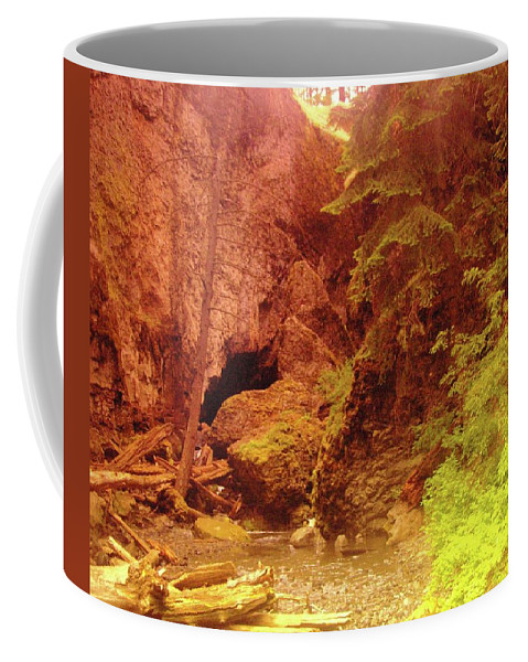 Boulder Cave Coffee Mug featuring the photograph Boulder Cave by Jeff Swan