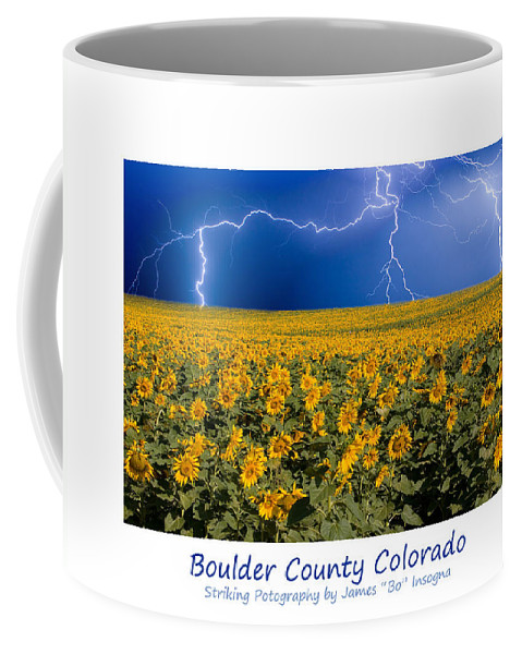 Lightning Coffee Mug featuring the photograph Boulder County Colorado by James BO Insogna