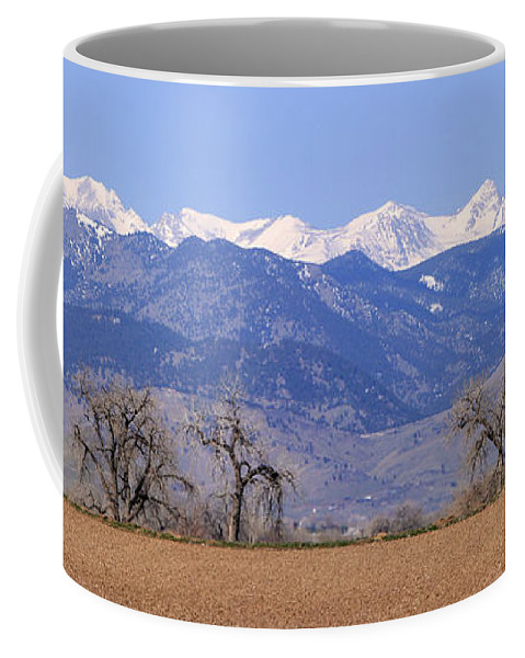 Boulder Coffee Mug featuring the photograph Boulder County Colorado Panorama by James BO Insogna