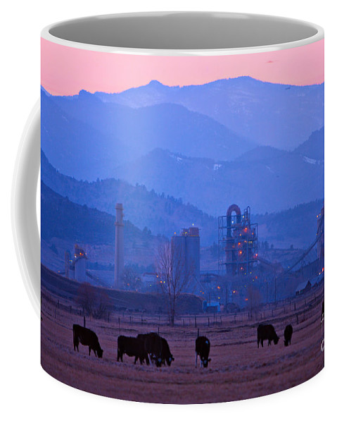 Boulder Coffee Mug featuring the photograph Boulder County Industry Meets Country by James BO Insogna