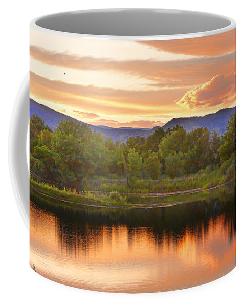 Sunsets Coffee Mug featuring the photograph Boulder County Lake Sunset Landscape 06.26.2010 by James BO Insogna