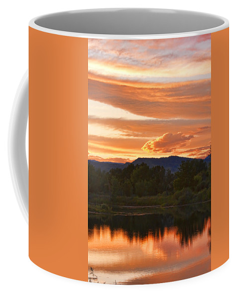 nature Photography Coffee Mug featuring the photograph Boulder County Lake Sunset Vertical Image 06.26.2010 by James BO Insogna
