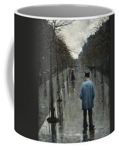 Carl DÖrnberger Norge 1864-1940 Gatuscen Coffee Mug featuring the digital art Boulevard Des Batignolles by Mark Carlson