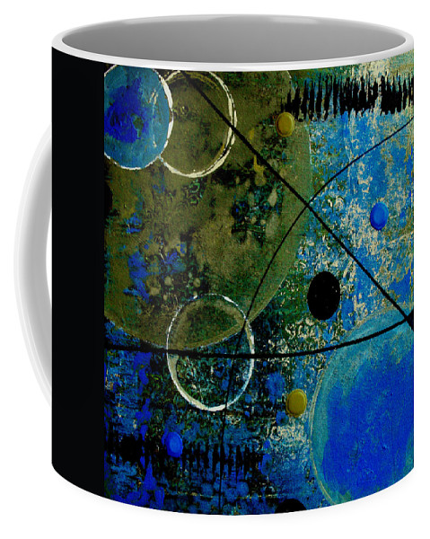 Abstract Coffee Mug featuring the painting Bouncer by Ruth Palmer