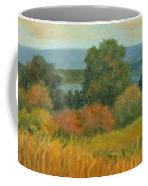 Landscape Coffee Mug featuring the painting Bountiful Harvest by Phyllis Tarlow