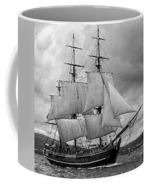 Tall Ship Coffee Mug featuring the photograph Bounty by John Hughes
