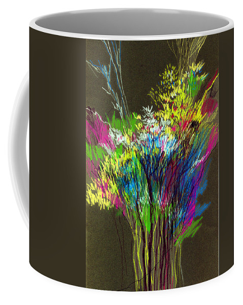 Flowers Coffee Mug featuring the painting Bouquet by Anil Nene