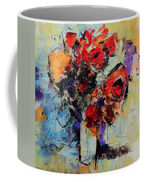 Flowers Coffee Mug featuring the painting Bouquet De Couleurs by Elise Palmigiani