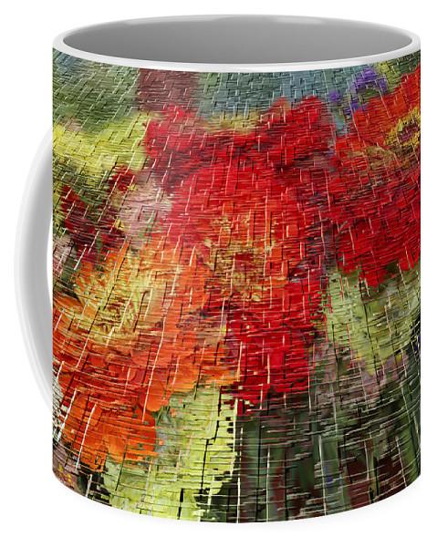 Craquelure Coffee Mug featuring the photograph Bouquet Of Colors by Deborah Benoit