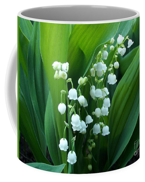 Lilly Of The Valley Coffee Mug featuring the photograph Bouquet Of Happiness by Augustus Gallia