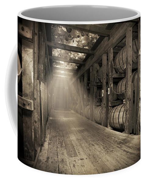 Bourbon Barrel Coffee Mug featuring the photograph Bourbon Barrels by Glass Glow by Karen Varnas