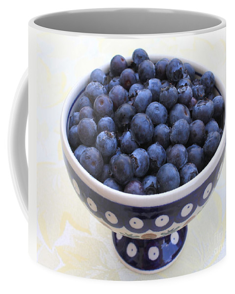 Blueberries Coffee Mug featuring the photograph Bowl Of Blueberries by Carol Groenen