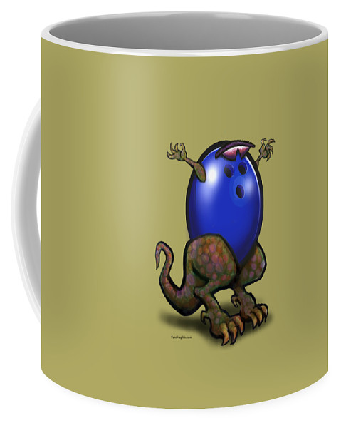 Bowl Coffee Mug featuring the digital art Bowling Beast by Kevin Middleton