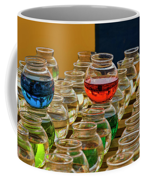 Bowls Coffee Mug featuring the photograph Bowls Full Of Color by Mitch Spence