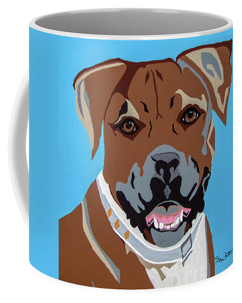 Boxer Coffee Mug featuring the painting Boxer by Slade Roberts