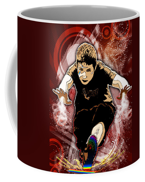 3d Coffee Mug featuring the digital art Boy by Svetlana Sewell