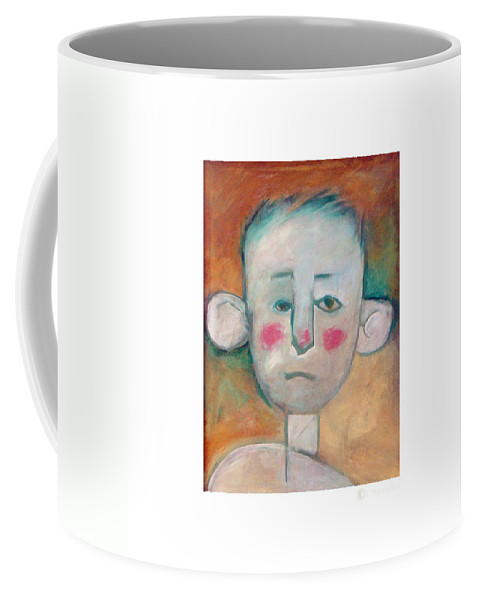 Boy Coffee Mug featuring the painting Boy by Tim Nyberg