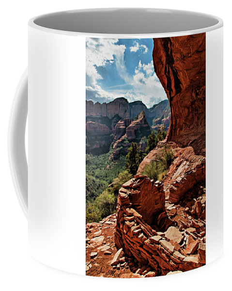 Sedona Coffee Mug featuring the photograph Boynton Canyon 08-160 by Scott McAllister