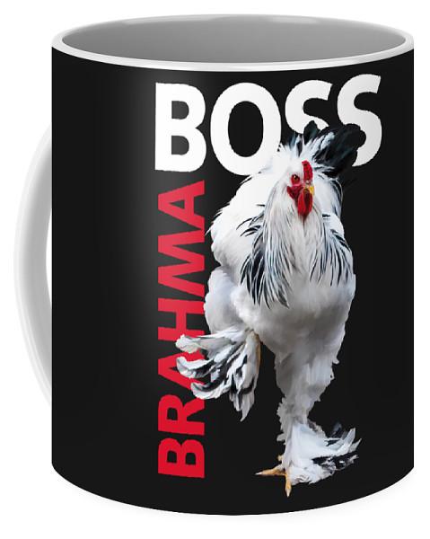 Light Brahma Coffee Mug featuring the digital art Brahma Boss II t-shirt print by Sigrid Van Dort