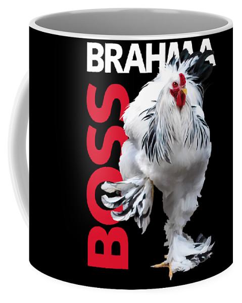 Brahma Coffee Mug featuring the digital art Brahma Boss T-shirt print by Sigrid Van Dort