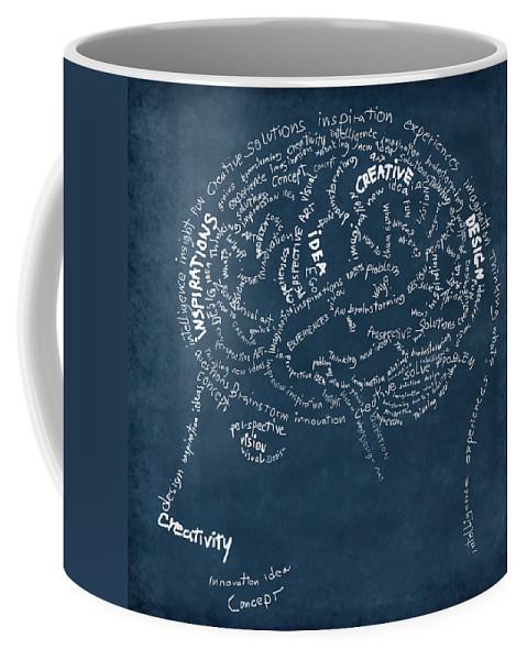 Anatomy Coffee Mug featuring the photograph Brain Drawing On Chalkboard by Setsiri Silapasuwanchai