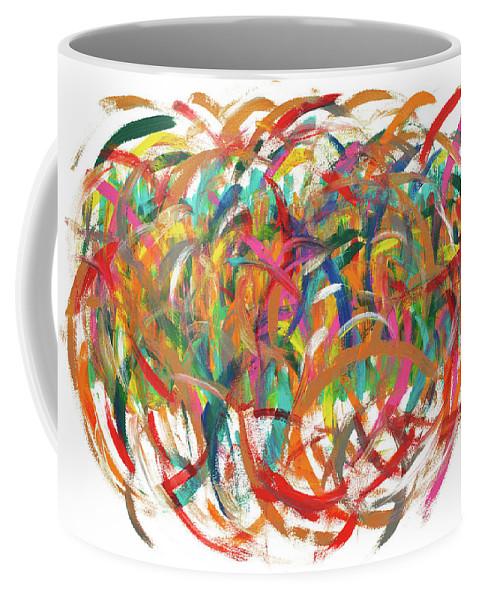 Brainstorm Coffee Mug featuring the painting Brainstorm by Bjorn Sjogren