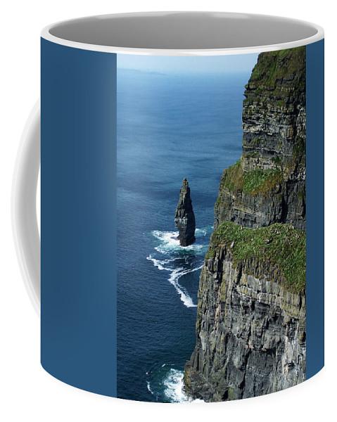 Irish Coffee Mug featuring the photograph Brananmore Cliffs Of Moher Ireland by Teresa Mucha