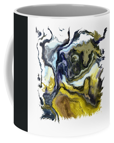Abstract Coffee Mug featuring the digital art Branching Out I Pf by Ronald Bolokofsky