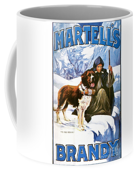 1910 Coffee Mug featuring the painting Brandy Advertisement, 1910 by Granger