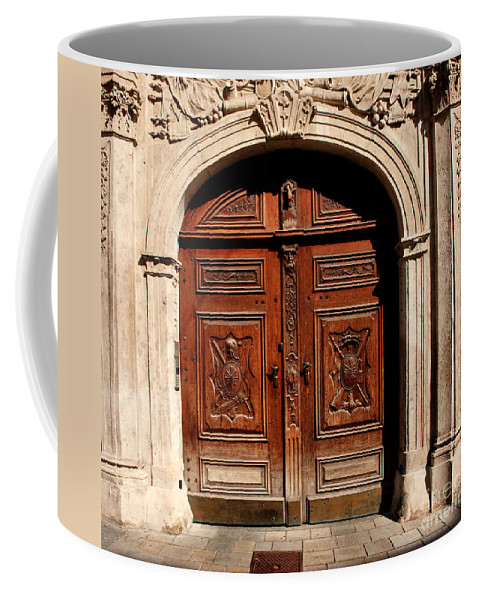Doors Coffee Mug featuring the photograph Bratislava Doors by Thomas Marchessault