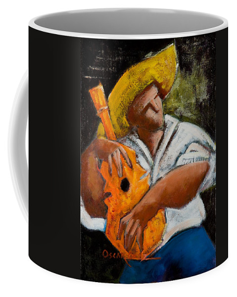Puerto Rico Coffee Mug featuring the painting Bravado Alla Prima by Oscar Ortiz
