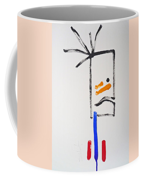 Native American Coffee Mug featuring the painting Brave by Charles Stuart