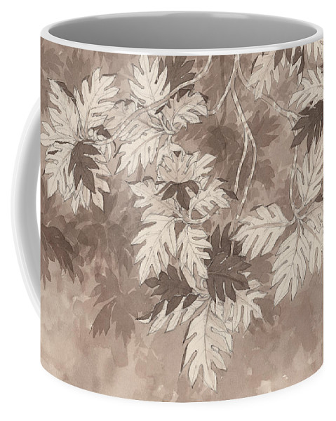 Landscape Coffee Mug featuring the painting Breadfruit Tree by Judith Kunzle