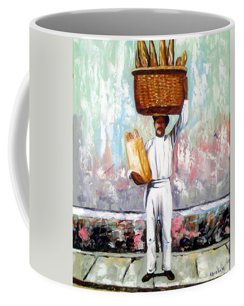 Bread Coffee Mug featuring the painting Breadman by Jose Manuel Abraham