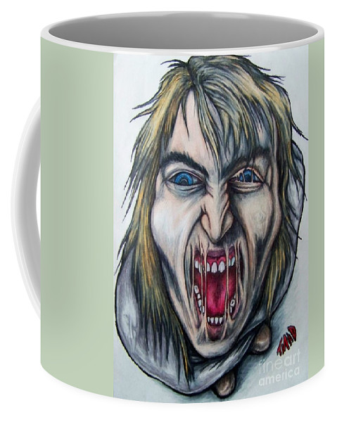 Tmad Coffee Mug featuring the drawing Break The Silence by Michael TMAD Finney