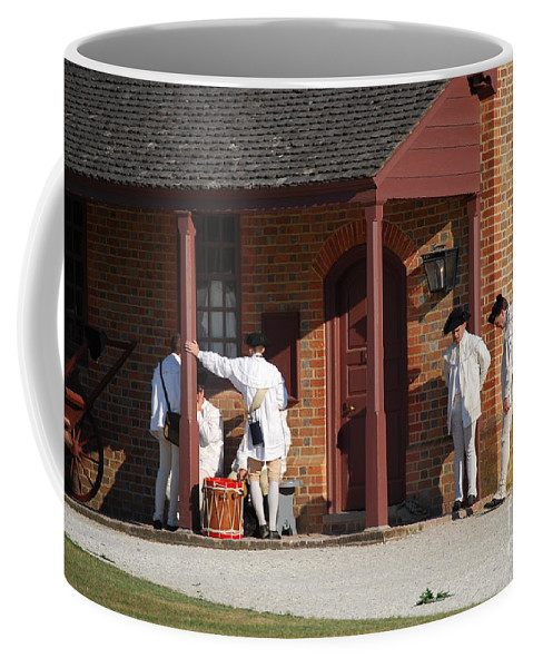 Williamsburg Coffee Mug featuring the photograph Break Time by Eric Liller