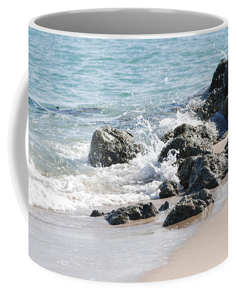 Scenic Coffee Mug featuring the photograph Breakers by Rob Hans