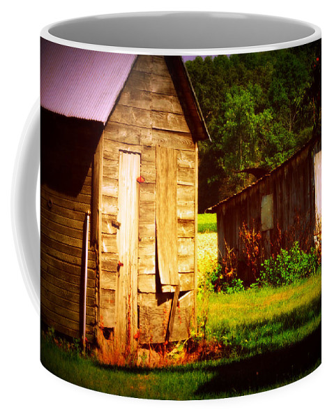 Outbuildings Deterioating In A Farm In Northwestern Ohio. It Breaks My Heart To See This Happening. Coffee Mug featuring the photograph Breaking My Heart by Paulette B Wright
