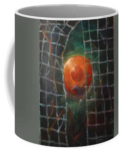 Orange Coffee Mug featuring the painting Breakthrough by Darko Topalski
