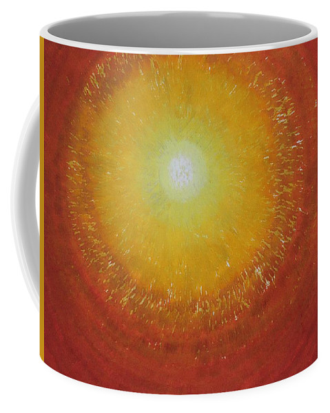 Sun Coffee Mug featuring the painting Breakthrough Original Painting by Sol Luckman