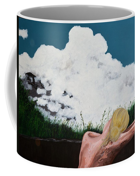 Switzerland Coffee Mug featuring the painting Breathing Room by Jennifer Klotz