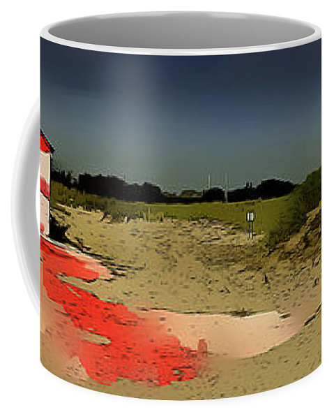New York Coffee Mug featuring the photograph Breezy Point Landscape 1 by Jeff Watts