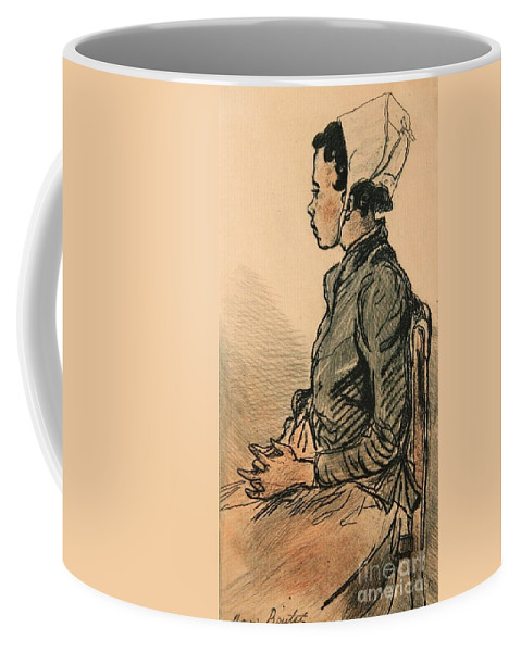 Henri Boutet Coffee Mug featuring the painting Bretonne Assise by Celestial Images